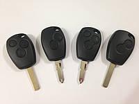 Корпус ключа 2 и 3 кнопки Renault Kangoo, Trafic, Clio, Megane, Master, фото 1