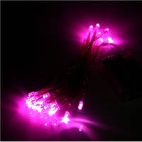 Светодиодная гирлянда Стринг Лайт LED-PLR-100-240V (100 св, цвет розовый), фото 1