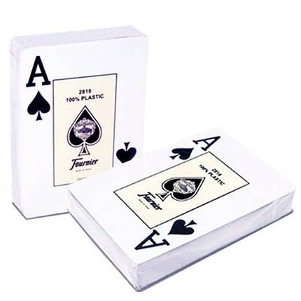 Пластиковые игральные карты Fournier 2818 (красная рубашка), фото 2