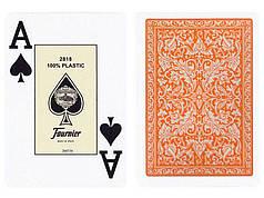 Пластиковые игральные карты Fournier (оранжевая рубашка)