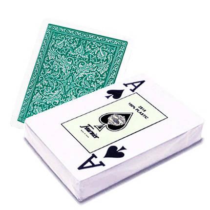 Пластикові гральні карти Fournier (зелена сорочка), фото 2