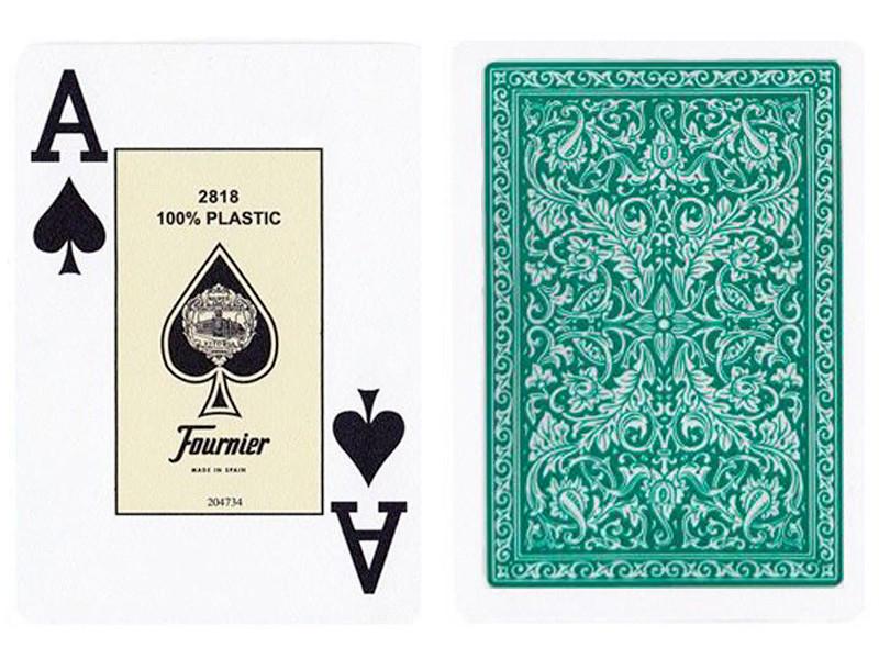 Пластикові гральні карти Fournier (зелена сорочка)