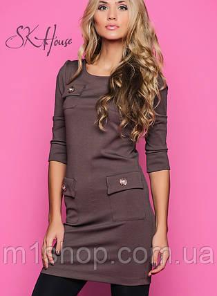 Платье лакост | Шоколадка с золотом sk, фото 2
