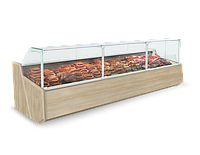 Холодильная витрина SAMOS DEEP 0.94 с кубическим фронтальным стеклом
