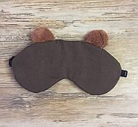 Маска для сна мишка с наполнителем