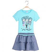 Нарядное и практичное детское платье Glo-Story;  92, 116 размер, фото 1