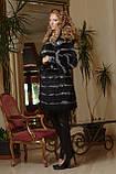Меховое пальто из черной лисы и чернобурки, фото 2