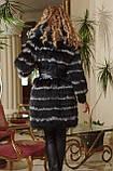 Меховое пальто из черной лисы и чернобурки, фото 3
