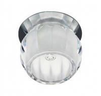 Встраиваемый светильник Feron JD92 прозрачный матовый хром