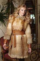 Меховое пальто жилет жилетка из лисы fox convertible horizontal layered fur coat vest fur-coat