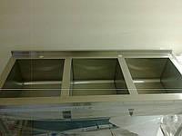 Ванна моечная трехсекционная из нержавейки 1800/600/850 мм