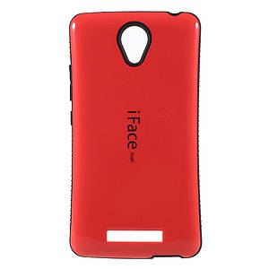 Чехол накладка для Xiaomi Redmi Note 2 противоударный IFACE MALL, Красный