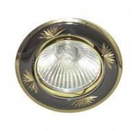 Встраиваемый светильник Feron 246DL черный металлик золото
