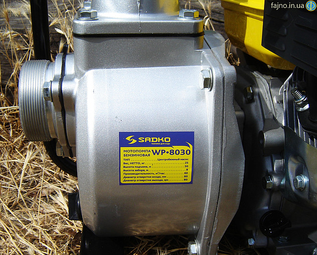 Мотопомпа Sadko WP-8030 характеристики