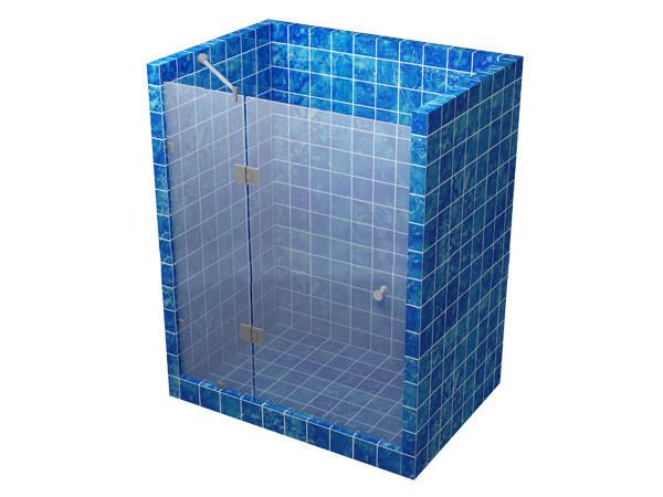 Душевая кабина 180 градусов с распашной дверью на стекле - Стекломикс в Днепре