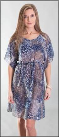 Пляжное платье туника Calipso Krista парео