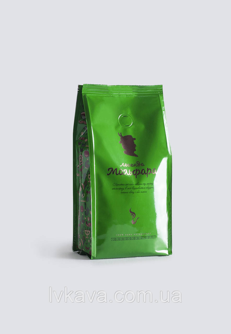 Кофе молотый Легенда Мольфара,зеленый, 200г