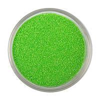 Салатовый песок, цветной песок №15