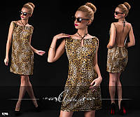 Платье-туника леопардовый принт