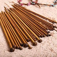 Спицы бамбуковые набор 18 пар 36 см