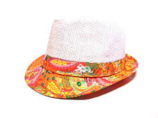 Шляпа Челентанка (White & Orange)