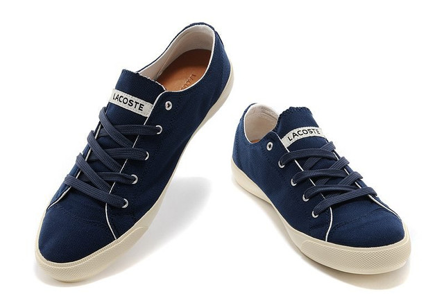 8461ee82194a Мокасины мужские Lacoste Seed Casual Blue Canvas (лакост) синие ...