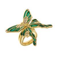 Кольцо Misis Metamorphosis с бабочкой из эмали