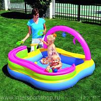 Детский игровой центр бассейн с горкой и шариками BestWay 52125