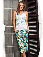 Женская хлопковая пижама с бриджами, фото 1