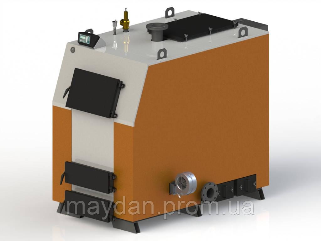 Твердотопливный котел Kotlant КВ 500. С электронной автоматикой Tech с функцией zPID и вентилятором.