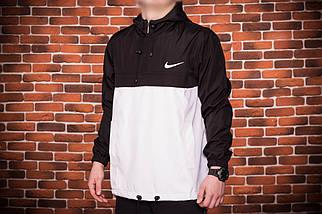 Анорак Nike (черно-белый), куртка, ветровка, фото 2