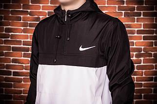 Анорак Nike (черно-белый), куртка, ветровка, фото 3
