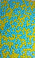 Посыпка шарики декоративные Нонпарель желто-голубая