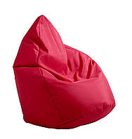 Бескаркасное кресло мешок красное 60х60х90см