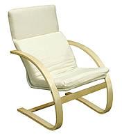 Кресло бежевое (основа береза + тканевая оббивка)