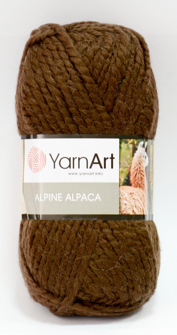 Пряжа alpine alpaca - цвет темно-коричневый (шоколад)