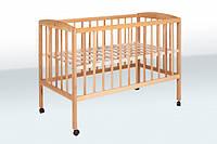Ліжко дитяче на колесах  бук