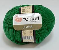 Пряжа jeans - цвет зеленый