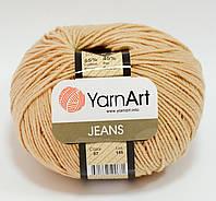 Пряжа jeans - цвет бежевый