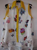 Детская шифоновая блузка для девочек