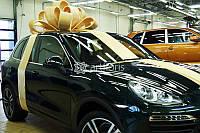 Золотой бант на машину, украшение машины подарочным бантом