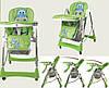 Стульчик для кормления C0101,C 0105, С 0104 с 4 колесами разных цветов