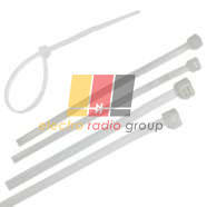 213-W Кабельна стяжка біла 5х250