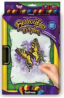 Вышивка гладью по номерам на растяжке Бабочка