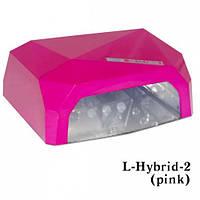 УФ Лампа для сушки ногтей (LED+CCFL) цвет розовый 36W LDV L-Hybrid-2 (pink)/0-63