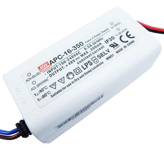 Импульсный драйвер светодиода APC-16-350, 350mA