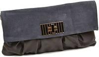 Женская замшевая сумка клатч