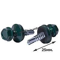 Саморез RAL 6005(т.зеленый) \ 4,8х25 по металлу (250шт.)