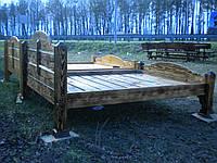 Деревянная кровать Леший