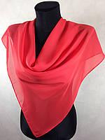Однотонный шифоновый красный платок (цв.70)